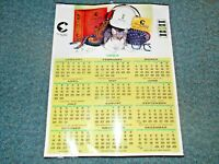 "1984 Chessie System Railroad 22""x28"" Poster Wall Calendar w Metal Tabs at Top &B"
