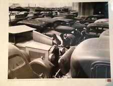 NYC POLICE CAR AUCTION - CHERRY & STEWART BROOKLYN.  NY 1951 PHOTOGRAPH 16 X 20