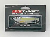 "Live Target Blueback Silver Blue Herring Saltwater Swimbait 5 1//2/""  BBH141FS931"