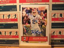 2016 Score Rookie Autographs #357 Kelvin Taylor