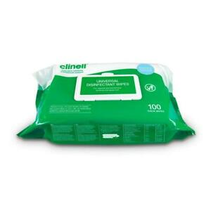 Clinell Universal Thick Sanitising Surface Wipes - Pack of 100
