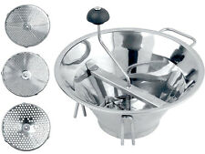 Heavy-Duty Moulin any Vegetable Mill Masher, Stainless Steel Tomato/Potato Ricer