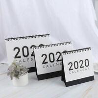 2020 Mini Table Calendars Desk Coil Calendar DIY Yearly Agenda OrganizerEF