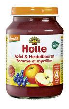 Glas - Demeter Apfel & Heidelbeeren 190g | HOLLE BABYFOOD