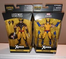 "Hasbro Marvel Legends X-Men Brown/Yellow & Blue/Yellow Wolverine 6"" Set of 2 New"