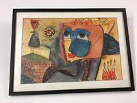 Cuban Artist Almer Alvaro Almaguer Framed Print ? Original