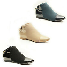WOMENS LADIES CASUAL CHELSEA STYLE LOW HEEL ANKLE BOOTS BOOTIES SHOES SIZE 3-8