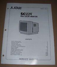 Atari 520 1040 ST STE Mega computer service manual SC 1224 RGB Colour Monitor