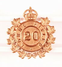 Canadian Army Badge: 20th Lorne Rifles, collar - Scully, brass
