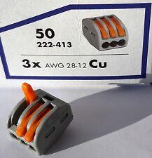 100 x WAGO Dosenklemmen / Steckklemmen mit Hebel für flexible Leiter bis 3x4mm²