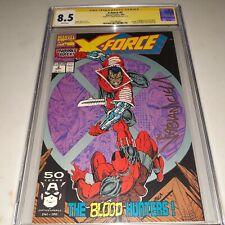 Signed X-Force #2 CGC SS 8.5 (1991) Deadpool's 2nd App - Fabian Nicieza