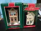 HALLMARK NOSTALGIC HOUSES & SHOPS--1989-1990---IN BOXES----------------mc