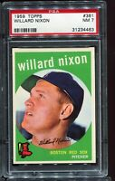 1959 Topps Baseball #361 WILLARD NIXON Boston Red Sox PSA 7 NM