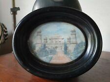 début XIXe ancienne Peinture MINIATURE. 12 x 9 cm. Palais a identifier