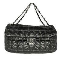 Chanel Maxi Tweed Double Stitch Flap Bag