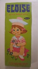 """Vintage ELOISE Whitman Paperdoll 9 1/2"""" Boxed Paper Doll Pink Flocked Clothing"""