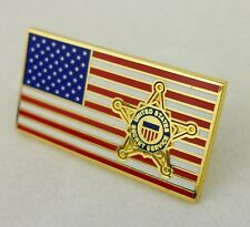 USSS PIN UNITED STATES SECRET SERVICE LAPEL HAT PIN AMERICAN FLAG-0375