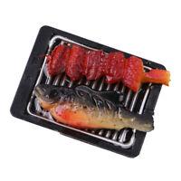 MagiDeal 1/6 Dollhouse Miniature Food Barbecue- Iron Plate #4 Crucian