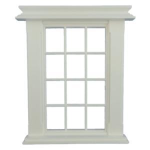 Melody Jane Dolls House Miniature Plastic Georgian Window Frame 12 Pane 1:24