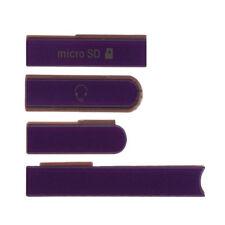 Sony Xperia Z L36h C6603 reemplazo, USB, SD, tarjeta SIM Cubierta Aleta púrpura