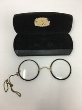 Pince Nez Glasses Parts Repair Round Sterling CO Advertising Case GF Shur-On