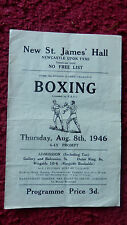 BOXING PROGRAMME-EDWARD G.ROBINSON V EDDIE DONALDSON-ST.JAMES HALL-NEWCASTLE1946