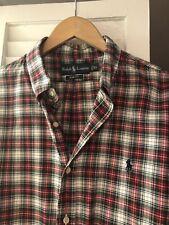 Ralph Lauren Polo Men's XL Plaid Shirt 100% Cotton Slim Fit