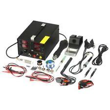 909D+ Rework Soldering Station Hot Heat Air Gun DC USB Power Supply 110V 220V AC