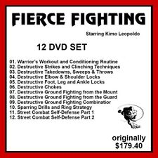 Kimo Leopoldo Fierce Fighting System 12 DVDs mma ufc boxing panther productions