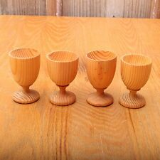 4 Small Wood Goblets Wine Glasses