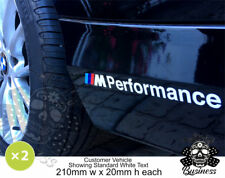 2x 210mm BMW M Performance Side Skirt Decals Graphics Stickers Sill 34 colours!