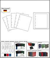 10  LOOK 336293-W  Weisse NUMOH Zwischenblätter ZWL Für Lindner Karat Münzhüllen