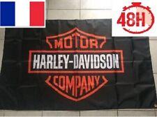 Drapeau publicitaire bannière flag Harley Davidson moto 90x150 CM