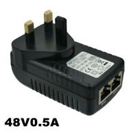 48V 0.5A POE Power Supply adapter PoE Injector Wall UK Plug Power Over Ethernet