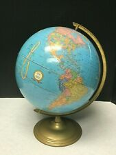 "Vintage Cram'S Imperial World Globe 12"" Base Collectible"
