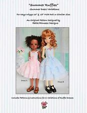 """Summer Ruffles"" Ruffled Dress Pattern for 16"" and 18"" MSD Kaye Wiggs Dolls"