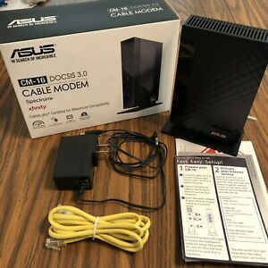 ASUS CM-16 Cable Modem - DOCSIS 3.0 For Spectrum, Xfinity, & more - 686 Mbps DL