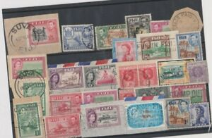 VERY GOOD LOT OF VARIOUS PERIOD FIJI STAMPS FOR POSTMARKS 78*