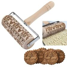 Embossed Rolling Pin Christmas Wooden Rolling Pins For Baking Embossed Cookies