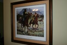 """Don Stivers """"Scout's Blunder"""" 670/1000 Print Signed Numbered Framed Matted"""