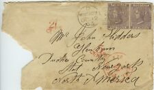 Great Britain, 1863 #39 Six Pence Pair on Cover Montrose to New York