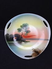 Noritake Hand Painted Landscape  Tray Plate Made in JAPAN