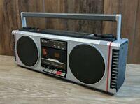 Vintage Sony Rear Drive 3D BOOMBOX CFS-450 AM FM Cassette Tape *READ*