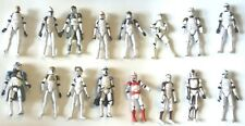 Star Wars Clone Wars Clone Trooper Lot of 18 Figures Rare Army Builder 3.75