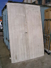 "Large Pine ledged braced framed industrial garage room divider doors 63x96""2 1/2"