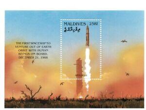 VINTAGE CLASSICS - Maldives 2176 - Apollo 8 Space Launch - Souvenir Sheet - MNH