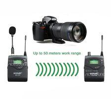 ACEMIC UHF 798-830MHz Wireless Mic Lapel Microphone Ear-Minitor SLR Camera