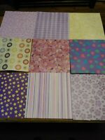 LOT OF 200 SHEETS OF 12X12 VARIOUS DESIGNS SCRAPBOOKING PAPER NEW