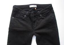 TOPSHOP Black BAXTER Raw Hem Skinny Jeans Size W 26  Size  8
