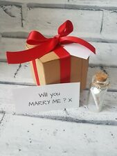 Will you marry me - message in a bottle, gift box, scroll, marriage proposal
